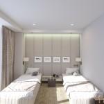 раздельные кровати в номере Люкс (Luxe)